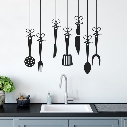 stickers ustensiles de cuisine des prix 50 moins cher qu 39 en magasin. Black Bedroom Furniture Sets. Home Design Ideas
