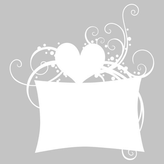 Stickers velleda coeur ornement