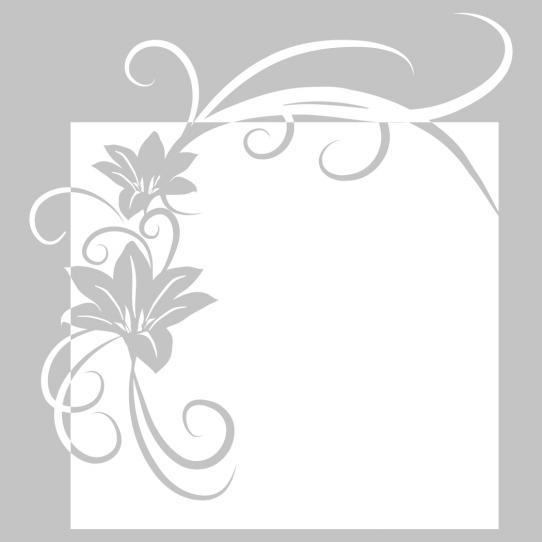 Stickers velleda fleur