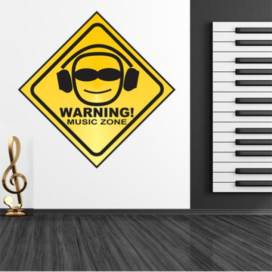 Stickers warning music