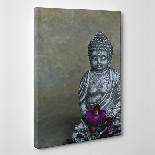 tableau toile bouddha orchid e des prix 50 moins cher qu 39 en magasin. Black Bedroom Furniture Sets. Home Design Ideas