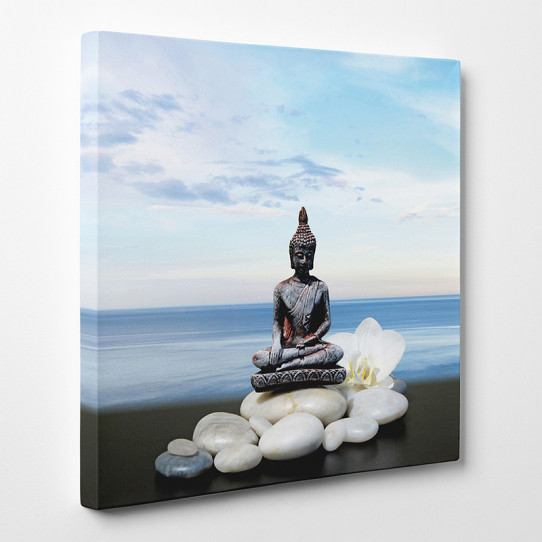 tableau toile bouddha zen des prix 50 moins cher qu 39 en magasin. Black Bedroom Furniture Sets. Home Design Ideas