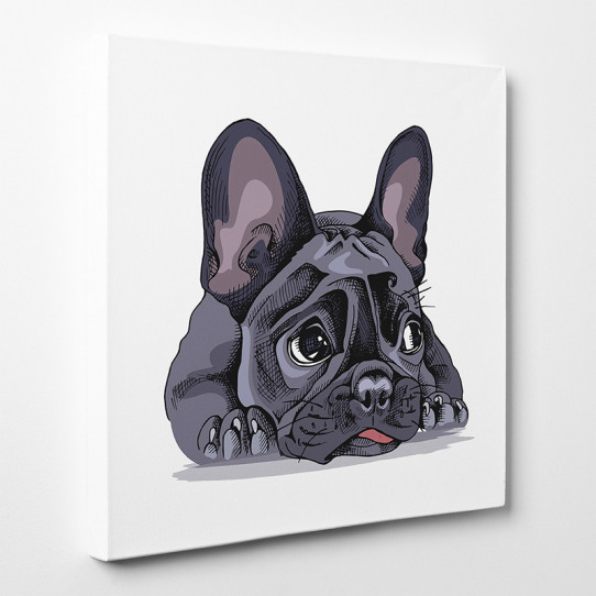Tableau Bouledogue bulldog 6 ar tableau toile bouledogue 18578