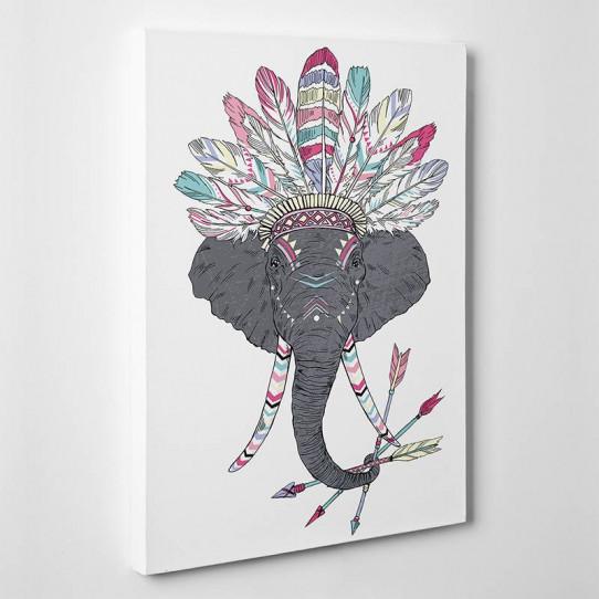 tableau toile elephant indien des prix 50 moins cher. Black Bedroom Furniture Sets. Home Design Ideas
