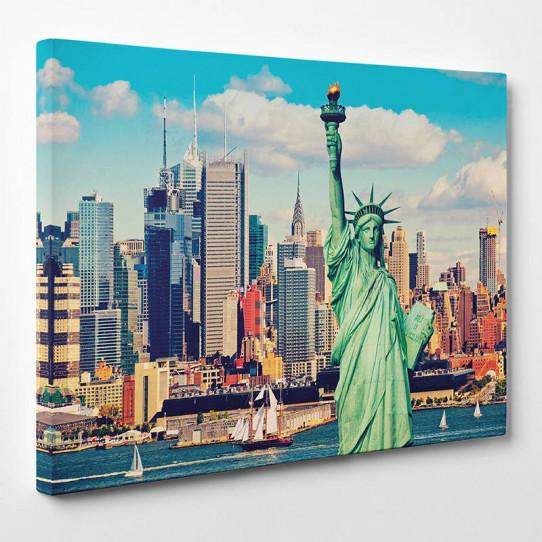 tableau toile new york 17 des prix 50 moins cher qu 39 en magasin. Black Bedroom Furniture Sets. Home Design Ideas