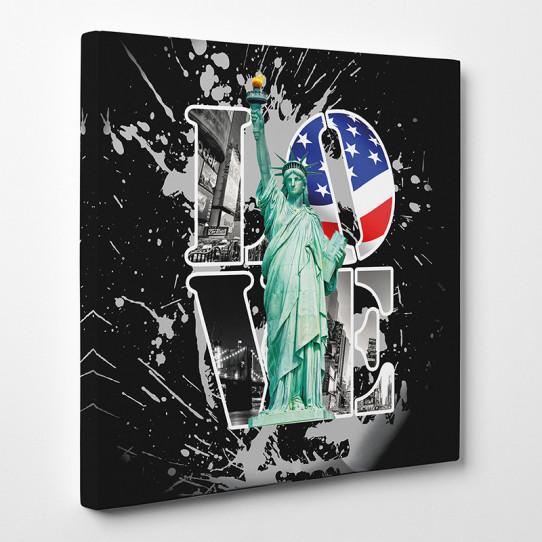 Tableau toile new york love 3 des prix 50 moins cher - Tableau toile new york ...