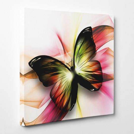 tableau toile papillon abstrait 2 des prix 50 moins cher qu 39 en magasin. Black Bedroom Furniture Sets. Home Design Ideas