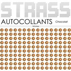 160 Strass Autocollants Chocolat