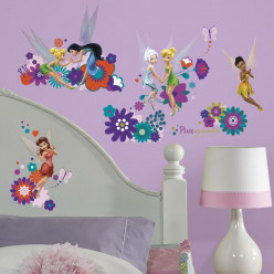 18 Stickers Fée Clochette Disney Fairies Flowers