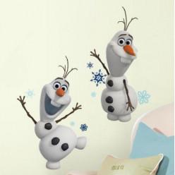 2 Stickers Géant Olaf La Reine des Neiges Disney