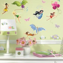 30 Stickers Fée Clochette La Vallée du printemps Disney fairies
