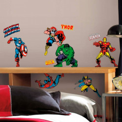 32 Stickers Avengers Comics Marvel