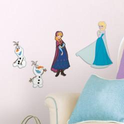 4 Stickers Mousse La Reine des Neiges Disney Frozen