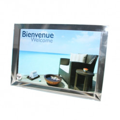 Cadre Photo en verre contour Biseauté Moyen Format
