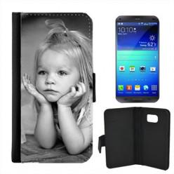 Coque Portefeuille Galaxy S6 Edge Noir