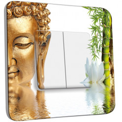 Interrupteur Décoré Double Va et Vient -  Bouddha 1