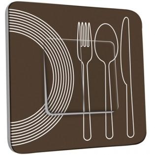 Interrupteur Décoré Double Va et Vient - Cuisine Couverts Design 1