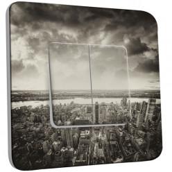 Interrupteur Décoré Double Va et Vient - New York Black&White