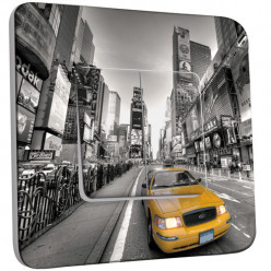 Interrupteur Décoré Double Va et Vient -  New York Taxi 01
