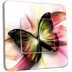 Interrupteur Décoré Double Va et Vient -  Papillons Abstrait Zoom