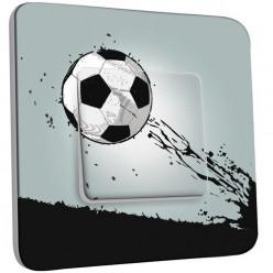 Interrupteur Décoré Poussoir - Ballon de foot Design 1
