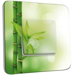 Interrupteur Décoré Poussoir - Bambou