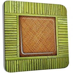 Interrupteur Décoré Poussoir - Bambou 3