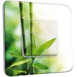 Interrupteur Décoré Poussoir - Canne de bambou