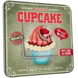 Interrupteur Décoré Poussoir - Cupcake 1