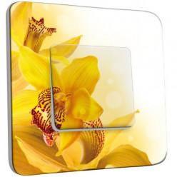 Interrupteur Décoré Poussoir - Fleurs jaunes Zoom 2