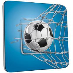 Interrupteur Décoré Poussoir - Football Bleu
