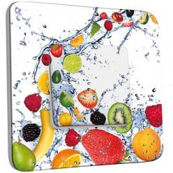 Interrupteur Décoré Poussoir - Fruits Design