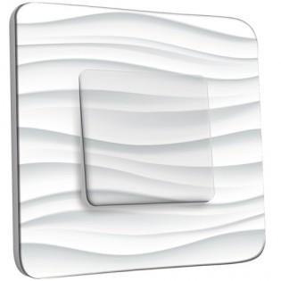 Interrupteur Décoré Poussoir - Pureté vague