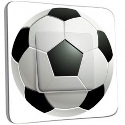 Interrupteur Décoré Simple Va et Vient - Ballon de foot Black&White 2