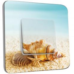Interrupteur Décoré Simple Va et Vient - Coquillages Etoile de Mer 10