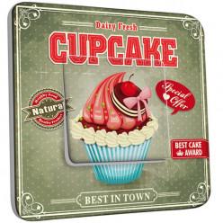Interrupteur Décoré Simple Va et Vient - Cupcake 1