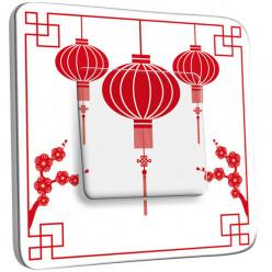 Interrupteur Décoré Simple Va et Vient - Design Chinois