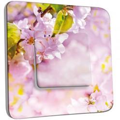 Interrupteur Décoré Simple Va et Vient - Fleurs de Cerisier