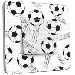 Interrupteur Décoré Simple Va et Vient - Football Black&White 1