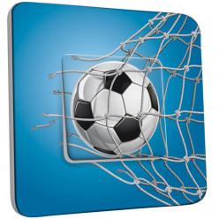Interrupteur Décoré Simple Va et Vient - Football Bleu