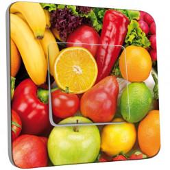 Interrupteur Décoré Simple Va et Vient - Fruits et légumes