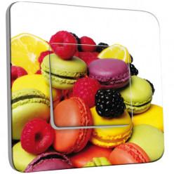 Interrupteur Décoré Simple Va et Vient - Fruits et Macarons
