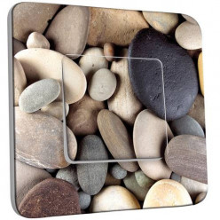 Interrupteur Décoré Simple Va et Vient - Galet pierre