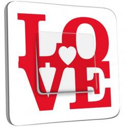 Interrupteur Décoré Simple Va et Vient - Love