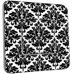 Interrupteur Décoré Simple Va et Vient - Motif Oriental Black&White 2