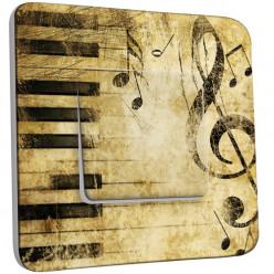 Interrupteur Décoré Simple Va et Vient - Musique Old Style
