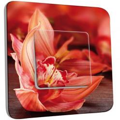 Interrupteur Décoré Simple Va et Vient - Orchidée 2