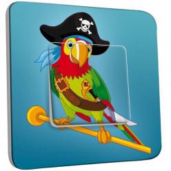 Interrupteur Décoré Simple Va et Vient - Perroquet Pirate Enfant