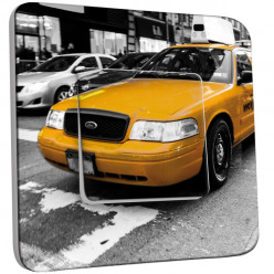 Interrupteur Décoré Simple Va et Vient - Taxi