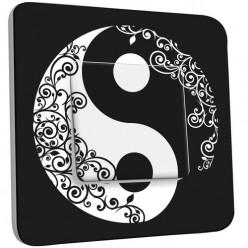 Interrupteur Décoré Simple Va et Vient - Ying et Yang 1
